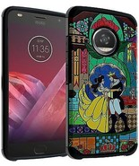Moto G5 Plus Case Beauty And The Beast, DURARMOR Dual Layer Hybrid Shoc... - $12.23