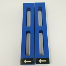 2 VINTAGE PRESSMAN DOMINO RALLY DOMINO DEALER BLUE TOWER INSERTS REFILLS - $12.47