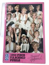 VTG 1997 F.X Schmid 1000 pc. Bernard of Hollywood Marilyn Monroe In White Puzzle - $21.99