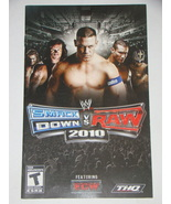 Playstation 2 - WWE SMACK DOWN VS RAW 2010 Feat ECW (Replacement Manual) - $8.00