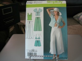 Simplicity 4192 Wrap Pant or Short & Kimono, Bra & Tank Tops Pattern - S... - $13.85