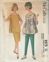 Vintage Sewing Pattern McCall's 6575 Maternity Top Pants Skirt 1962 Size 10 - $8.90