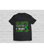 Mitochondrial Disease Awareness Means Game On Green Ribbon - $18.95