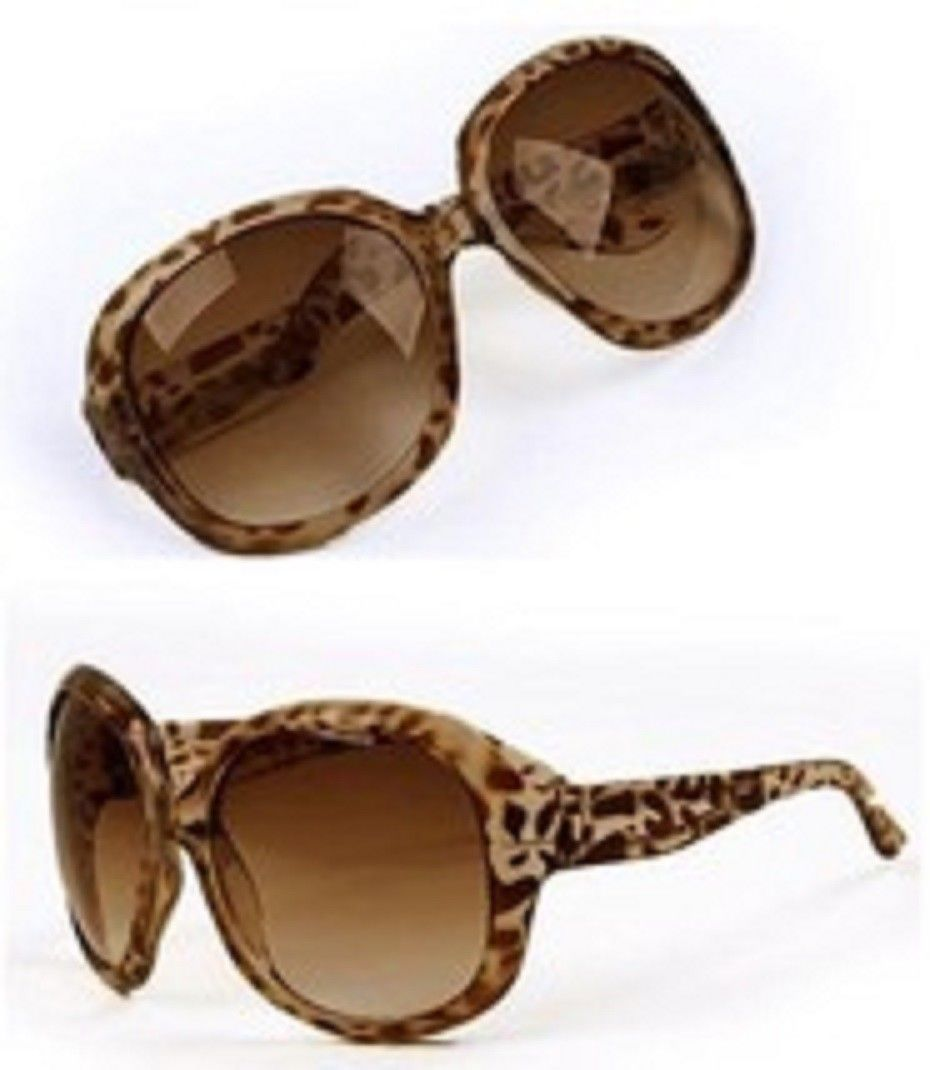 6ab795205746 Ladies Fashion Sunglasses Oversized PC UV Sun glasses 1 pair leopard