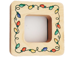 Stampendous 1998 Lights Frame Wood Mounted Rubber Stamp #ON027-Lights - $4.99