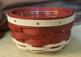 Longaberger 2011 SUMMER LOVIN AMERICANA Coaster Basket Red White With Pr... - $45.00