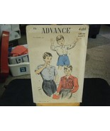 Vintage Advance 4188 Boy's Shirts Pattern - Size 4-6 Neck 11 - $8.90