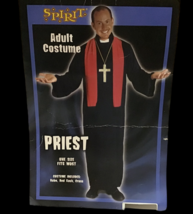 Spirit Halloween Adult One Size Priest Costume Robe Red Sash Cross Catholic  - $39.60