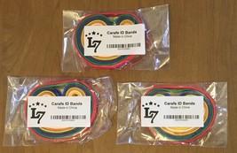 Carafe Id Bands Plastic Multi-Color Milk Lemonade Hot Water 3 Pack 8 Ban... - $14.20