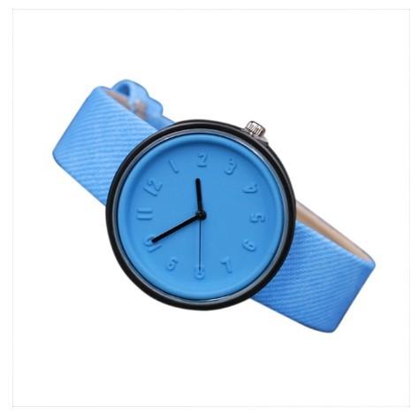Round Simple Fashion Watches Canvas Belt Unisex Casual Wristwatch Box image 7