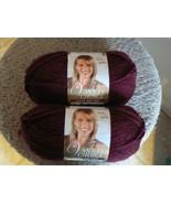 Lion Brand Vanna's Choice 1 set 2 skeins 3.5 oz Burgundy color (1 set av... - $5.79