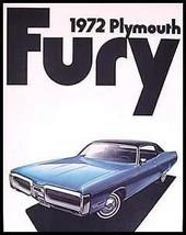 1972 Plymouth Fury Brochure - $9.35
