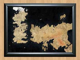 Game Of Thrones ~ Weste Map Tv George R Martin Seven Kingdoms A4 Print Poster - $11.95