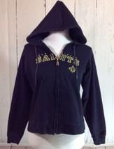 New Orleans Saints NFL Black Gold Zip Up Hoodie Sweat Shirt Size Medium - $14.60