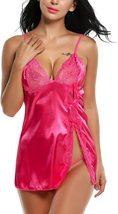Satin Lingerie Sexy Sleepwear for Women Lace Babydoll S-XXL image 6
