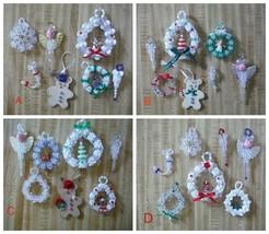 Holiday Christmas Tree Beaded Ornaments Choose the group you like - $3.50