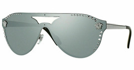 VERSACE MEDUSA Sunglasses VE2161 10011U Gunmetal / Blue Mirror Silver 80... - $185.00