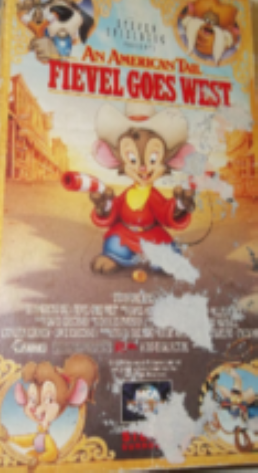 American Tail:Fievel Goes West Vhs