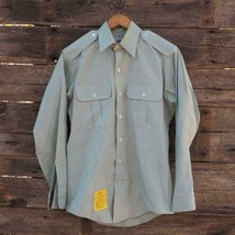 Defense Logistique Agence Garrison Collection 14.5 Vert Ls Hommes Robe S... - $9.89