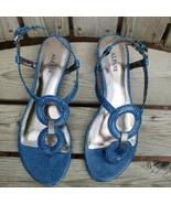 Alfani Sandals Aeries Seaside Open Toe Flats Womens Sz 7.5 Faux Snakeski... - $24.74