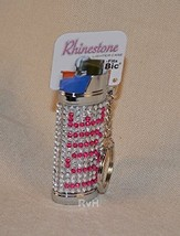 Rhinestone Lighter Cover/Sleeve (for REGULAR BICs) White w/LOVE (R11)