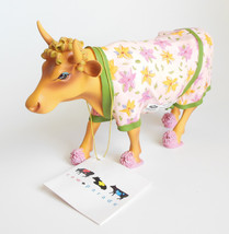 Cow Parade Early Show Figurine Wearing Slippers Robe Girly Farm Animal - $19.95