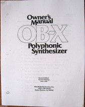 Oberheim OBX Synthesizer Printed User's Manual - $7.91