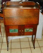 Solid Quartersawn Oak Arts & Crafts Dropfront Desk / Cabinet - $799.00