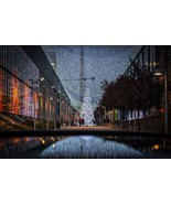 Christmas City Scene -  Art Picture Poster Photo Print 1WLD - $14.99+