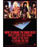 Motley Crue Shout At The Devil Reproduction Album Advertisement Stand-Up... - $16.99