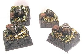1''x 1'' Treasure Pile (Set of 4) 28mm Scale pre Painted Dungeon Game Terrain Ac