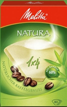 MELITTA NATURA 1 x 4 BOX OF 80 COFFEE FILTERS MADE WITH 60% BAMBOO 6627386 - $6.34