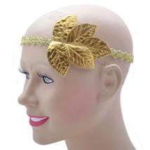 Unisex Gold Leaf Headband Roman Greek Goddess Toga Fancy Dress Costume A... - $7.66