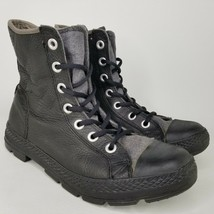 Converse Chuck Taylor All Star Leather Combat Boots Mens Size 9 CTAS Bla... - $93.49