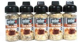 5 Ct Weber 3 Oz Steak N Chop Gluten Free No MSG Bold Flavor Seasoning BB 11/21 - $25.99
