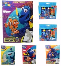 6-Pack (4) Finding Dory Color & Play Books Assorted & (2) 12-Pack Jumbo ... - $16.99