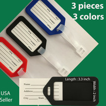 X3 Travel Luggage Bag Tag Name Address ID Label  Suitcase Baggage  - $5.83