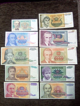Yugoslavia Inflation Lot 1992 1993 banknote 50000-5000000000 No3