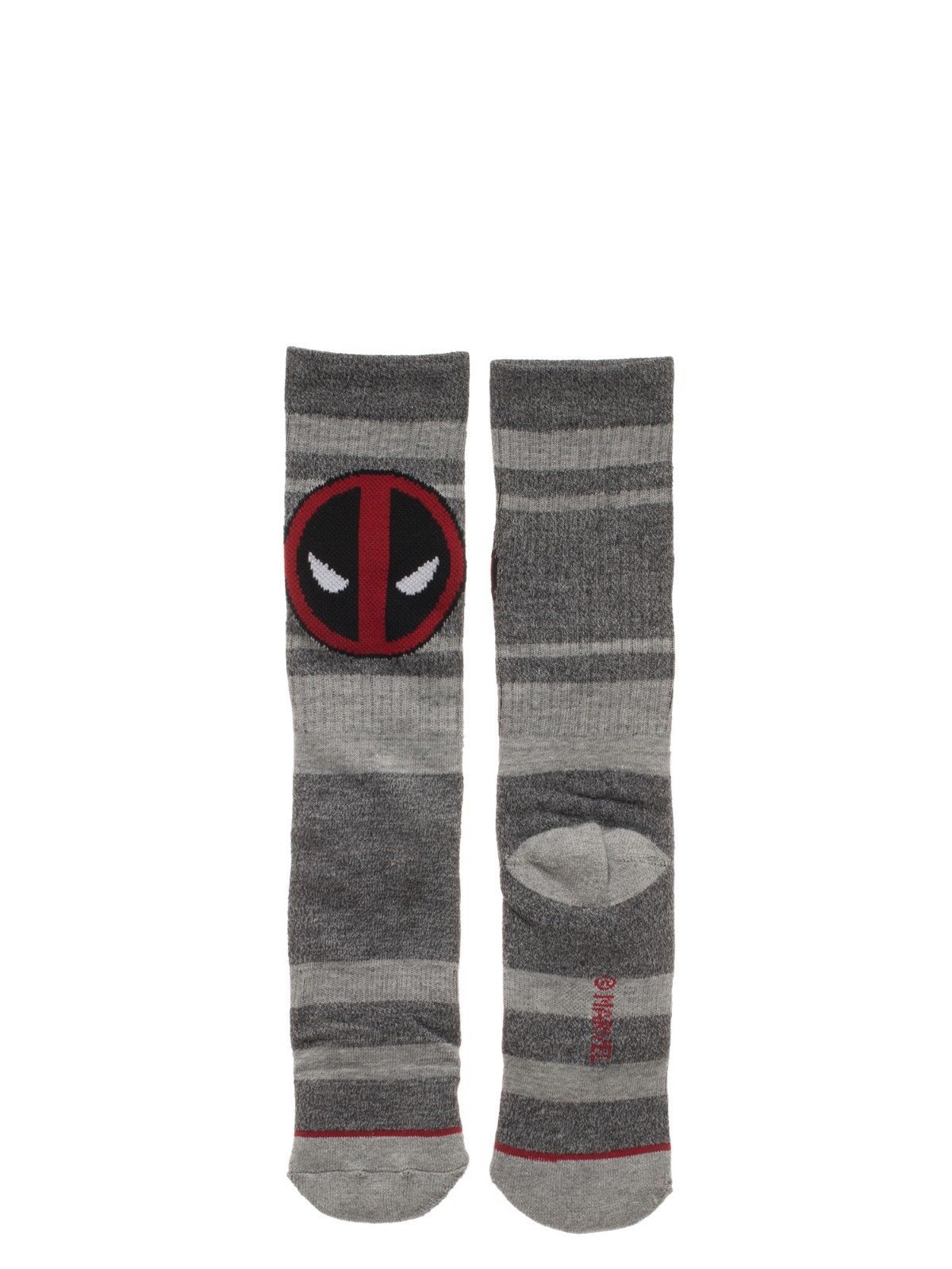 Deadpool Marvel Comics 3 Pack Athletic Active Crew Socks Nwt