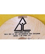 Whirligig spinning Top, Discovery Center, custom imprint, Toycrafter 1990 - $4.75