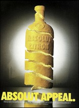 Absolut Vodka 1995 Appeal ad 8 x 11 advertisement Citron Citrus Lemon Fl... - $4.95