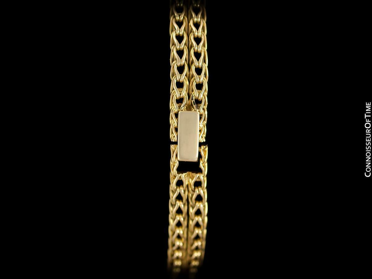 1950's JAEGER-LECOULTRE Vintage Ladies Backwind 18K Gold & Diamond Watch - Warra image 10
