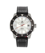 Shield Shaw Leather-Band Men's Diver Watch w/Date - Silver - $490.00