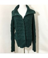 Talbots Green Chunky Knit Cardigan Fall Sweater Sz Small - $37.99