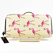 Bijorca Hot Pink Flamingo Tan Clutch Wallet New w Tags image 1