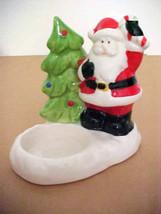 Santa Clause Ceramic Trinket / Soap Holder / Di... - $7.87
