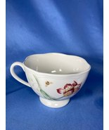 Lenox Butterfly Meadow Jumbo Footed Pink Floral And Honeybees Design Cof... - $12.99