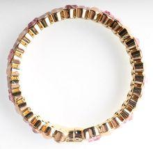 Stella + Ruby Gold Pink Austrian Crystal Magnetic Hinge Bangle Bracelet NWT image 3