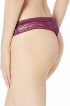 Calvin Klein Women's Ck Black Obsess Thong Purple Bright Plum Large New w Tag image 2
