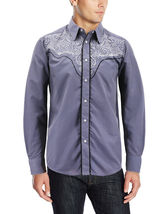 Men's Western Rodeo Style Cowboy Embroidered Tribal Print Dress Shirt image 15